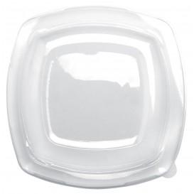 Plastic Deksel transparant voor bord Vierkant PET 23 cm (25 stuks)