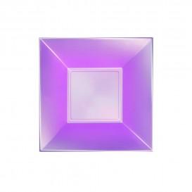 "Plastic bord Diep paars ""Nice"" parel PP 18 cm (300 stuks)"