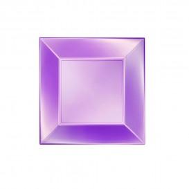 Assiette Plastique Plate Violet Nice Pearl PP 180mm (25 Utés)