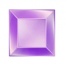 Assiette Plastique Plate Violet Nice Pearl PP 230mm (150 Utés)
