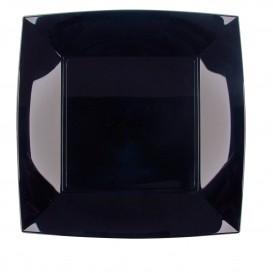 Assiette Plastique Réutilisable Plate Noir PP 230mm (300 Utés)