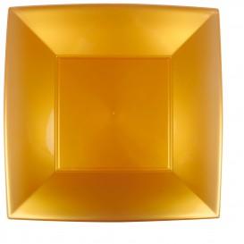 Assiette Plastique Réutilisable Plate Doré PP 290mm (12 Utés)