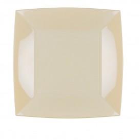 Assiette Plastique Plate Crème Nice PP 230mm (25 Utés)