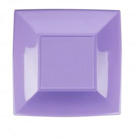 Assiette Plastique Réutilisable Plate Lilas PP 230mm (25 Utés)