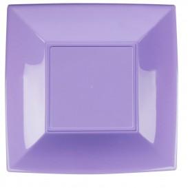Assiette Plastique Réutilisable Plate Lilas PP 290mm (12 Utés)