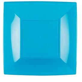 Assiette Plastique Réutilisable Plate Turquoise PP 290mm (144 Utés)