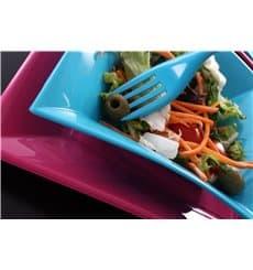 Assiette Plastique Réutilisable Plate Fuchsia PP 180mm (25 Utés)