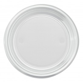 Plastic bord PS Plat transparant Ø17 cm (1100 stuks)