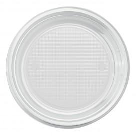 Plastic bord PS Plat transparant Ø22 cm (30 stuks)