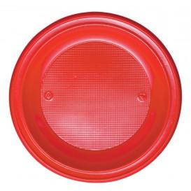 Assiette Plastique PS Plate Rouge Ø280mm (10 Unités)