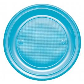 Assiette Plastique PS Plate Turquoise Ø220mm (780 Unités)