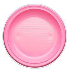 Assiette Plastique PS Plate Rose Ø220mm (780 Unités)