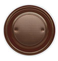 Assiette Plastique PS Creuse Chocolat Ø220mm (30 Unités)