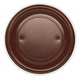 Assiette Plastique PS Creuse Chocolat Ø220mm (600 Unités)