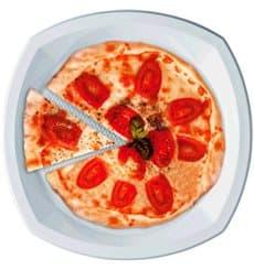 Assiette Plastique PS Carrée Blanc 230x230mm 1C (100 Utés)