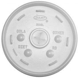 Plastic PS Deksel met rietsleuf transparant Ø11cm (100 stuks)