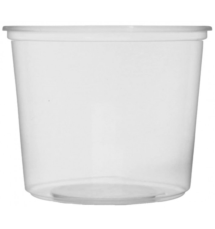 Pot en Plastique Transparent 400 ml Ø10,5cm (50 Unités)