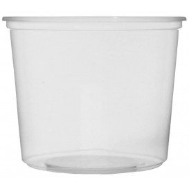 Pot en Plastique Transparent 400 ml Ø10,5cm (1.000 Utés)