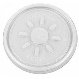 Plastic Deksel PS transparant Plat voor Schuim Container Ø7,4cm (1000 stuks)