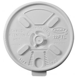 """Couvercle plastique PS """"Lift n' Lock"""" avec Rabat Blanc Ø8,9cm (1000 Unités)"""