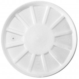 Schuim Ontluchtings Deksel wit Ø11cm (50 stuks)