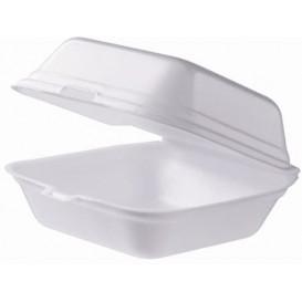 Schuim burger dozen take-out groot maat wit (125 stuks)