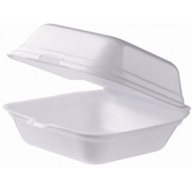 Schuim burger dozen take-out groot maat wit (500 stuks)