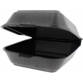Schuim burger dozen take-out groot maat zwart (125 stuks)