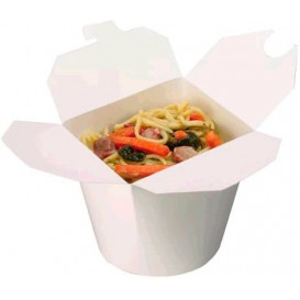 Papieren take-out Container wit 800ml (50 stuks)