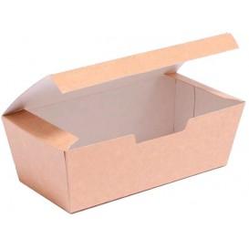BIO Kartonnen take-out doos kraft 16,5x7,5x6cm (25 stuks)