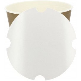 Papieren Deksel voor gebraden kip emmer 5100ml (100 stuks)