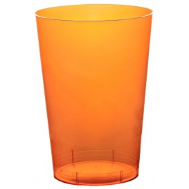 "Plastic PS beker ""Moon"" oranje transparant 230ml (50 stuks)"