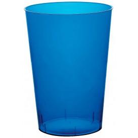 "Plastic PS beker ""Moon"" blauw transparant 230ml (50 stuks)"