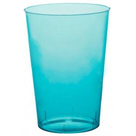Verre Plastique Moon Turquoise Transp. PS 230ml (50 Unités)
