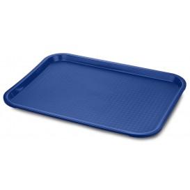 Plastic dienblad Fast Food blauw 35,5x45,3cm (1 stuk)