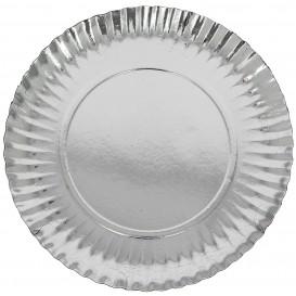 Assiette en Carton Ronde Argenté 230 mm (500 Unités)