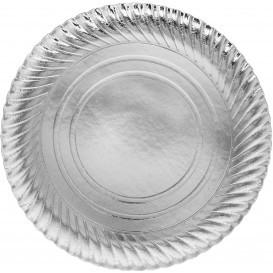 Assiette en Carton Ronde Argenté 300 mm (100 Unités)