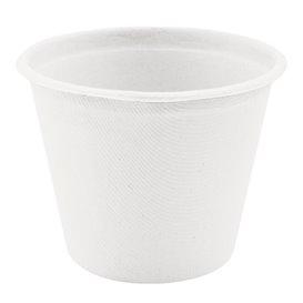 Pot Bio en Canne à Sucre Blanc Ø95mm 425ml (600 Utés)