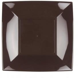 Assiette Plastique Réutilisable Plate Marron PP 290mm (144 Utés)