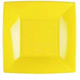 Assiette Plastique Réutilisable Plate Jaune PP 290mm (12 Utés)