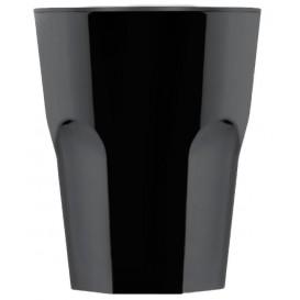 "Plastic glas SAN Herbruikbaar ""Rox"" zwart 300ml (8 stuks)"