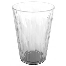 "Plastic glas SAN Herbruikbaar ""Graniten"" Ice transparant 420 ml (5 stuks)"