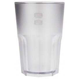 "Plastic glas SAN Herbruikbaar ""Frost"" transparant 400 ml (75 stuks)"