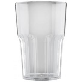 """Plastic glas SAN Herbruikbaar """"Graniten"""" transparant 400 ml (5 stuks)"""
