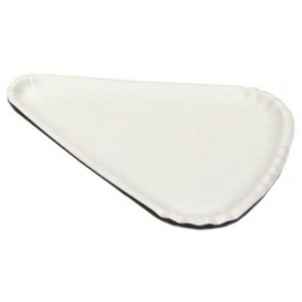 Papieren Pizza bord wit Driehoekige vorm 1/8 24x18 (1000 stuks)