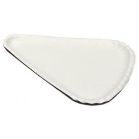 Papieren Pizza bord wit Driehoekige vorm 1/8 24x18 (100 stuks)