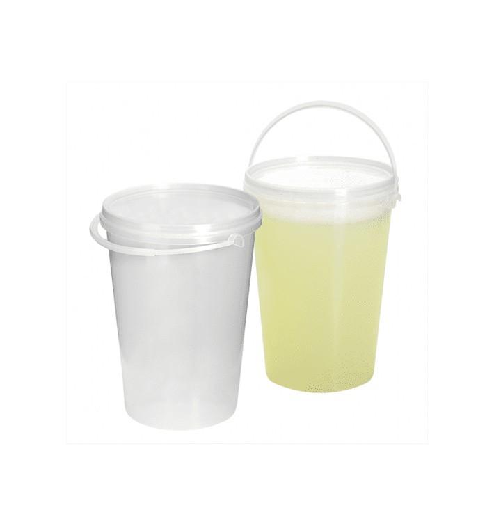 Seau Plastique avec Couvercle et Anse 1000 ml (10 Utés)