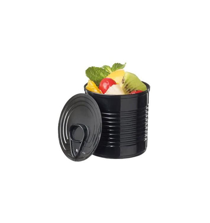 Boîte de Conserve Noire PS 60ml Ø5,1x4,8cm (25 Utés)