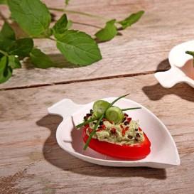 Mini Feuille Canne à Sucre Blanc 8x5,5 cm (50 Utés)