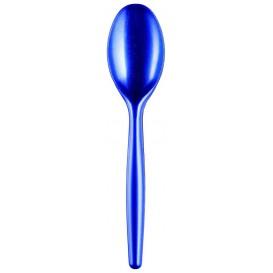 """Plastic lepel PS """"Easy"""" blauw parel 18,5 cm (20 stuks)"""
